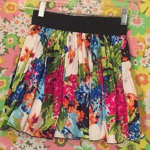 Delia's small floral skirt elastic mini color